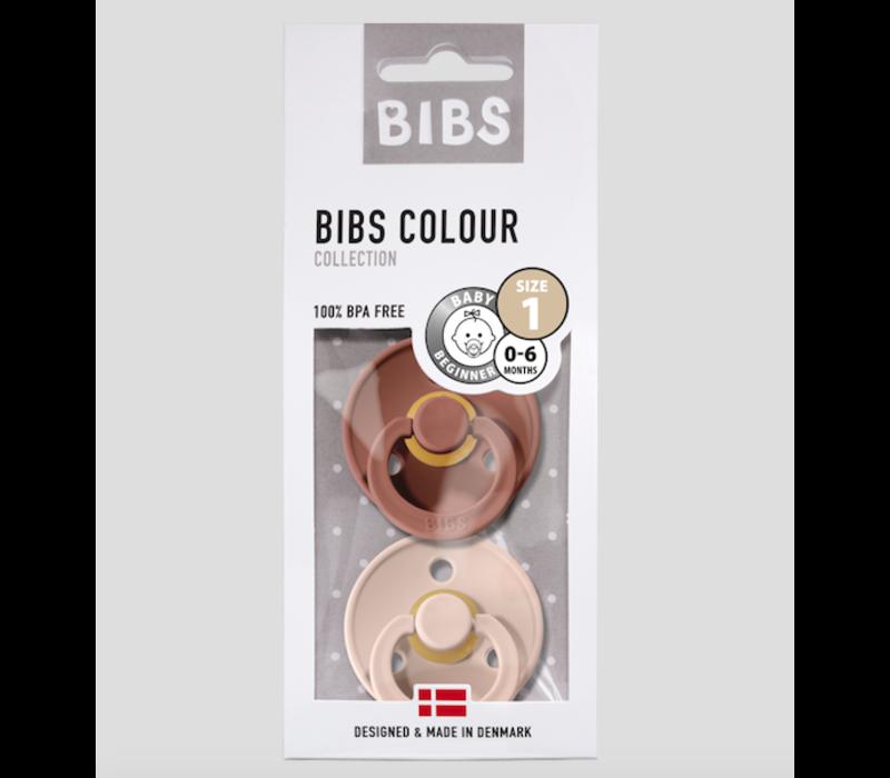 Bibs Pacifier Newborn - woodchuck/blush