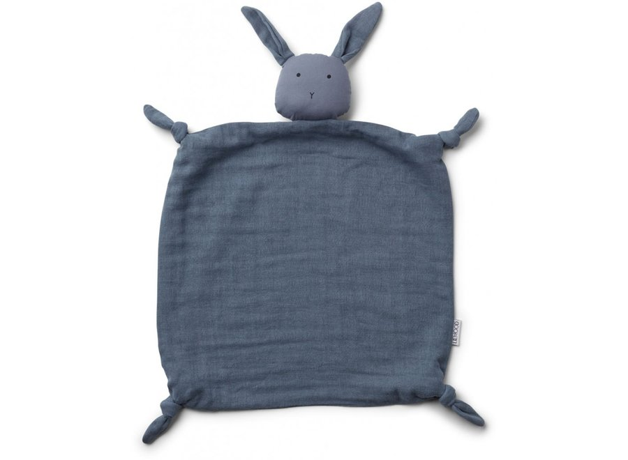 Liewood Agnete Cuddle Cloth Rabbit Blue Wave
