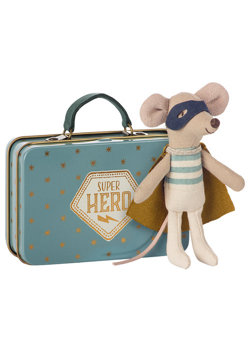 Maileg Maileg Superhero Mouse in Suitcase