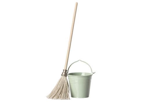 Maileg Maileg Mouse Bucket & Mop