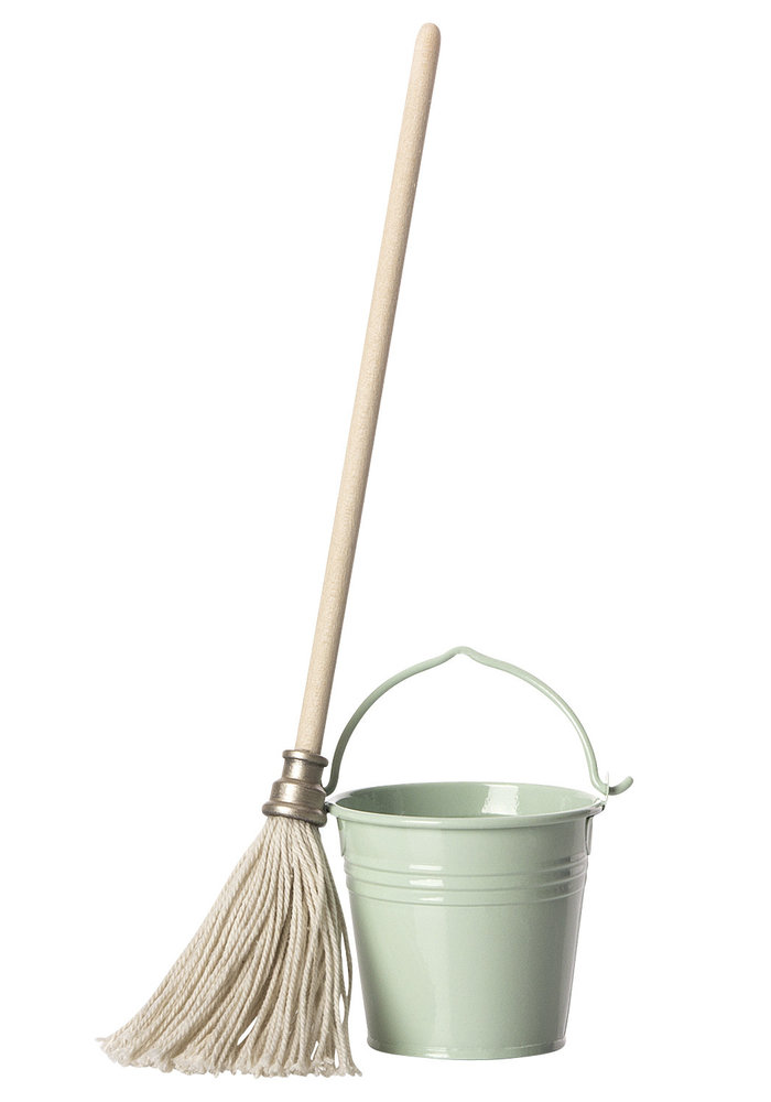 Maileg Mouse Bucket & Mop