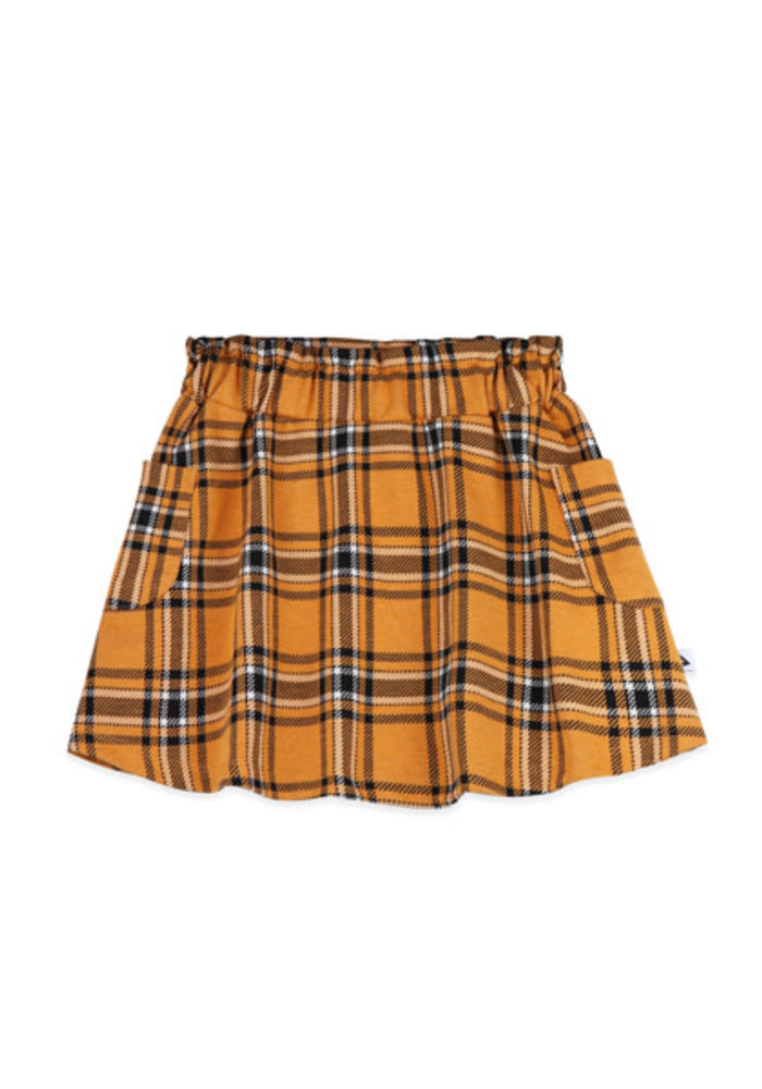 Ammehoela Flynn Skirt Yellow Check
