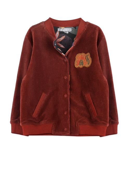 Ammehoela Ammehoela Reversible Ollie Jacket Forrest Bordeaux Kids