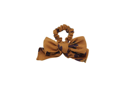 Soft Gallery Soft Gallery Scrunchie Bow Inca Gold AOP Berries Small