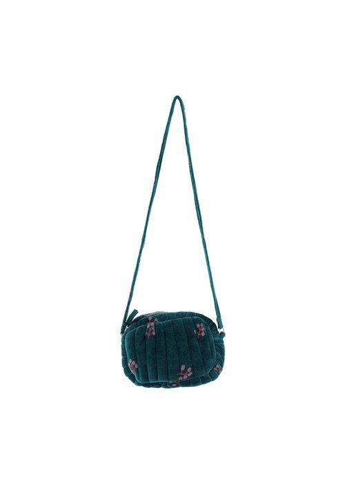 Soft Gallery Soft Gallery Mini Quilt Bag Deep Teal AOP Winterberry