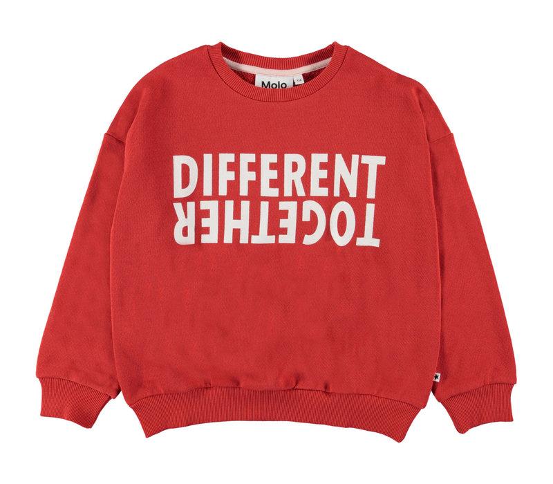 Molo Maja Sweat Shirt Vermillion Red