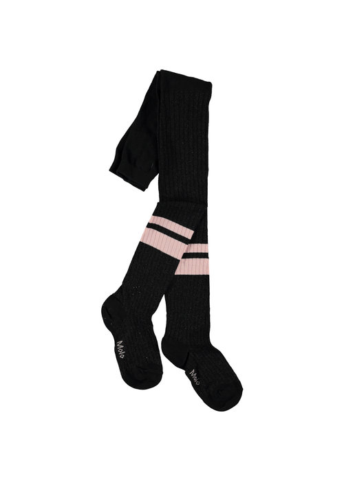 Molo Molo Sporty Rib Tights Black/pink