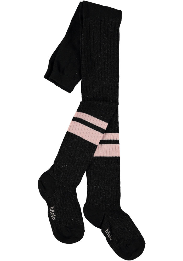 Molo Sporty Rib Tights Black/pink
