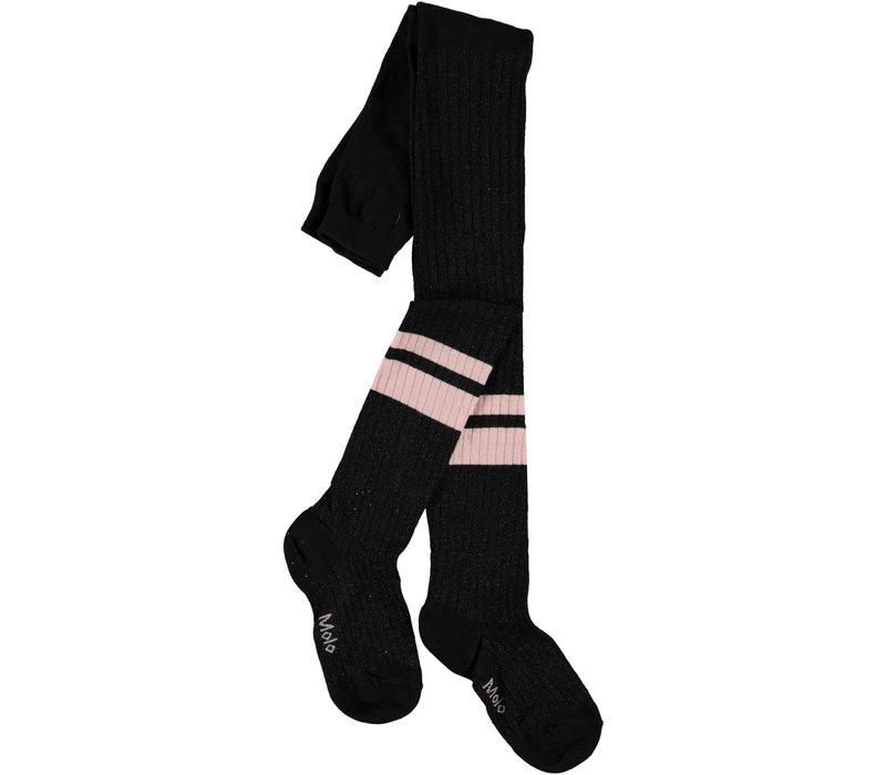 Molo Sporty Rib Tights Black/pink