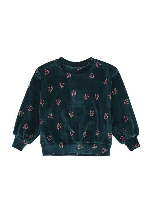 Soft Gallery Soft Gallery Elvira Sweatshirt Deep Teal AOP Winterberry