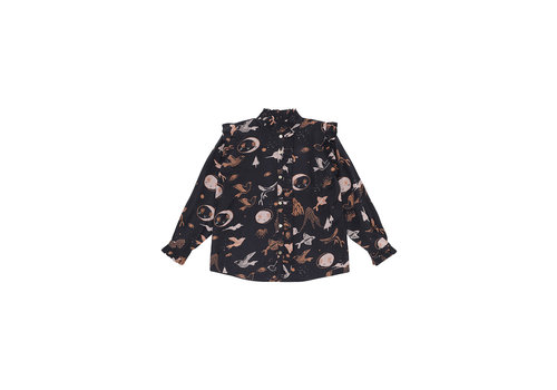 Soft Gallery Soft Gallery Tilde Shirt Peat AOP enchanted Forest
