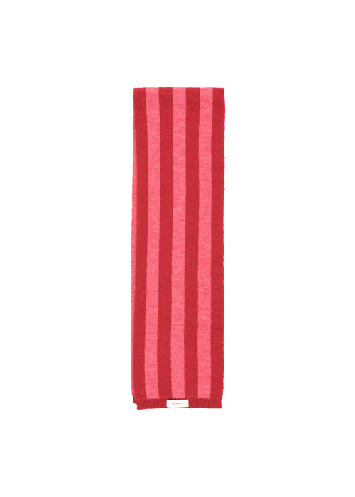 Tinycottons Stripes Scarf burgundy/bubble gum