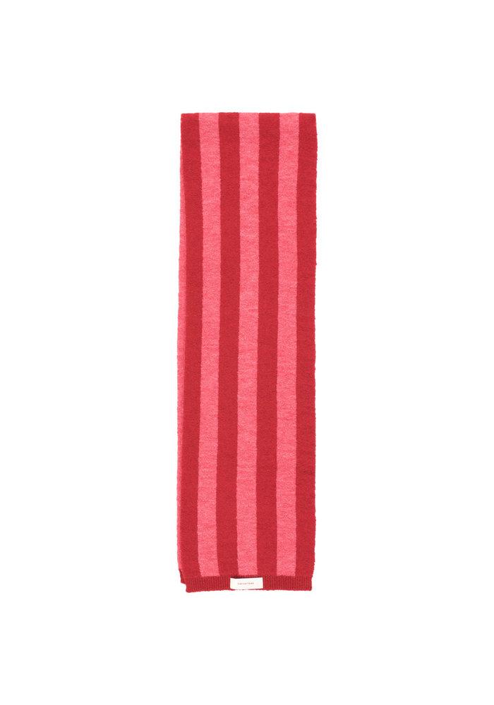 Tinycottons Stripes Scarf burgundy/bubble gum