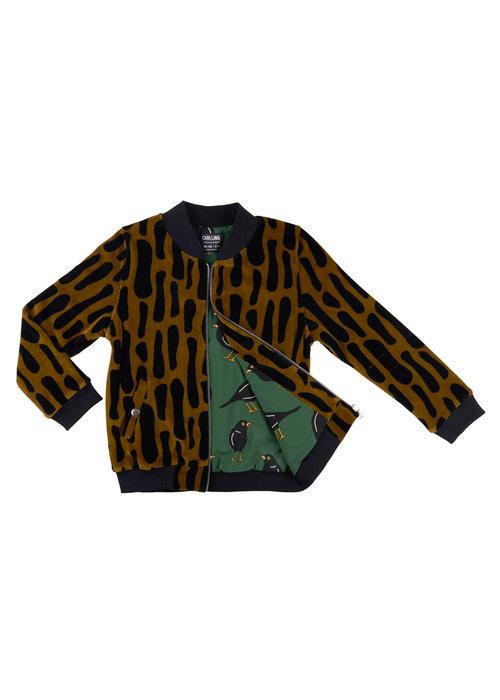 CarlijnQ CarlijnQ Bark Bomberjacket Velvet (lined with blackbird)
