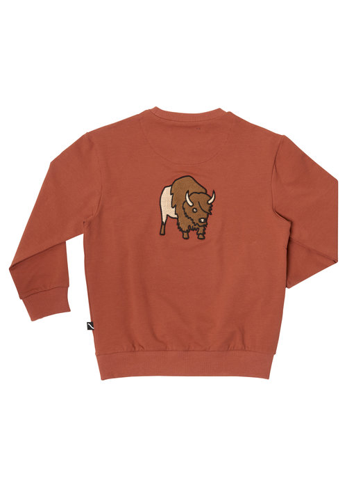 CarlijnQ CarlijnQ Bison Sweater with pocket and embroidery on back
