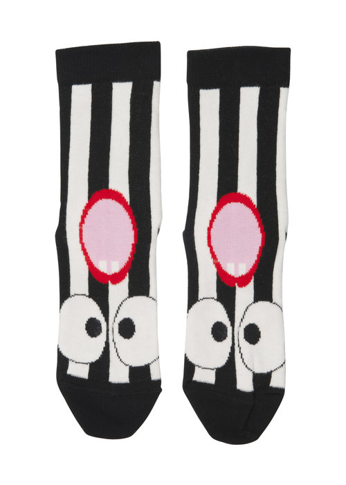 Wauw Capow by BangBang CPH Wauw Capow by BangBang Lala Socks Black and White Stripes