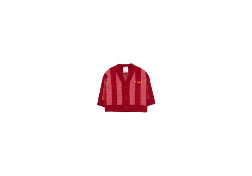 Tinycottons Tinycottons Stripes Cardigan burgundy/bubble gum