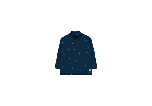 Tinycottons Tinycottons Mockneck Tee  Dots True Navy