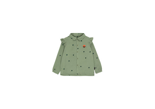 Tinycottons Tinycottons Dots Sunset Shirt Green Wood/Bottle Green