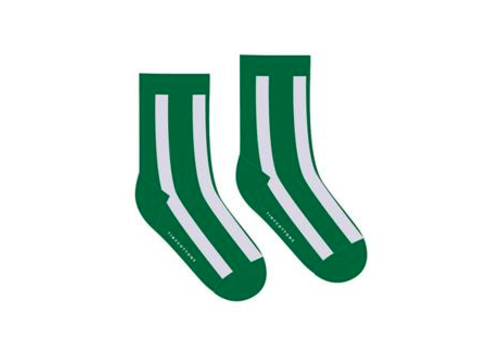 Tinycottons Tinycottons Fluffy Stripe Medium Socks Deep Green
