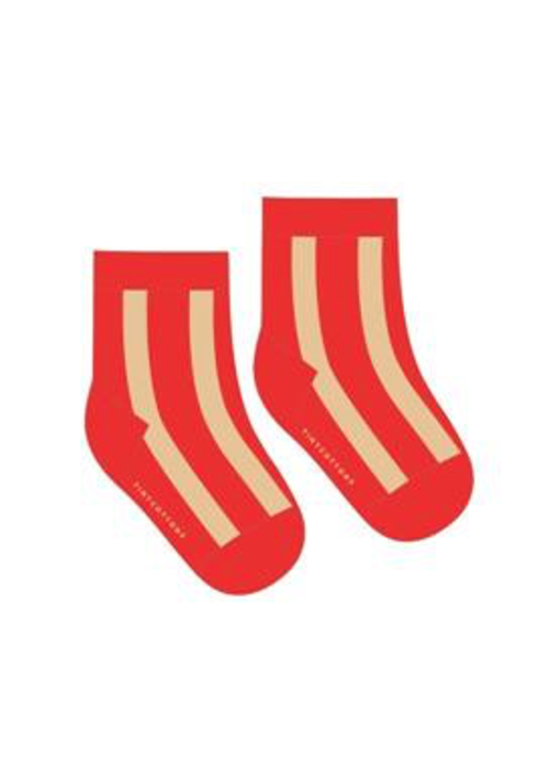 Tinycottons Tinycottons Fluffy Stripe Medium Socks Red