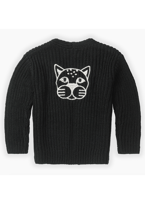 Sproet & Sprout Sproet & Sprout Cardigan Panther Head Black