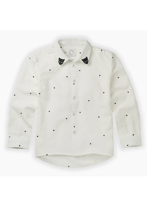 Sproet & Sprout Sproet & Sprout Woven Blouse Dots Milk