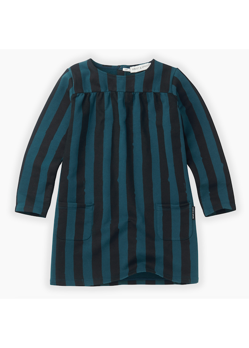Sproet & Sprout Sproet & Sprout Sweat Dress Painted Stripe Moonlight