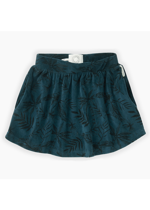 Sproet & Sprout Sproet & Sprout Velvet Skirt Tropical AOP Moonlight