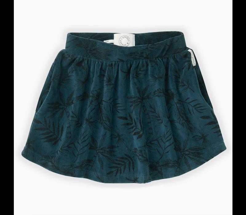 Sproet & Sprout Velvet Skirt Tropical AOP Moonlight
