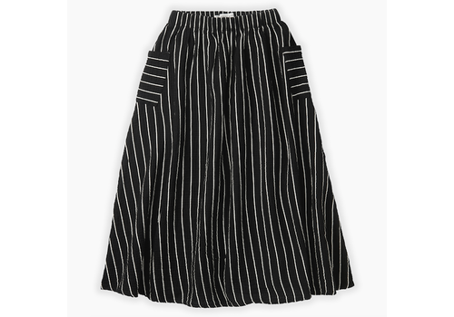 Sproet & Sprout Sproet & Sprout Woven Long Skirt Stripe Black Stripe