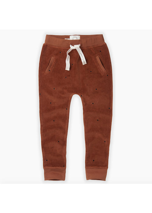 Sproet & Sprout Sproet & Sprout Velvet Pants Dots Mocha