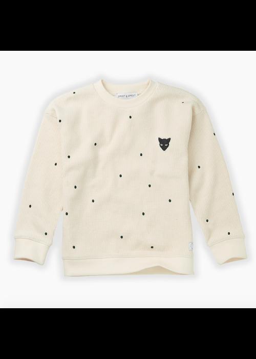 Sproet & Sprout Sproet & Sprout Sweatshirt Dots Milk
