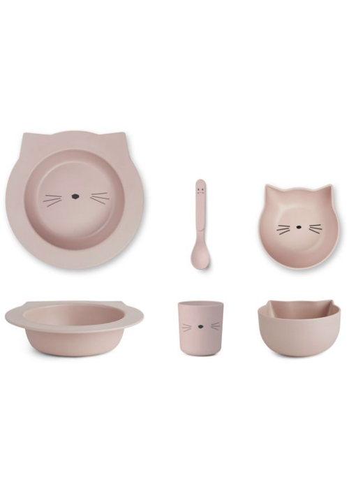 Liewood Liewood Barbara Bamboo Baby Set Cat - rose