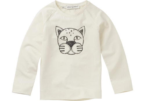 Sproet & Sprout Sproet & Sprout T-shirt Panther Head Milk