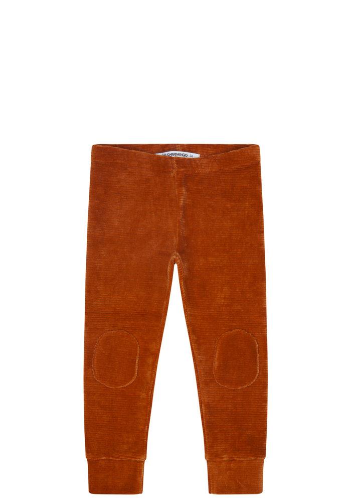 Mingo Legging Velvet Rib Leather Brown