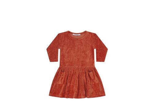 Mingo Mingo Dress Terry Red Wood