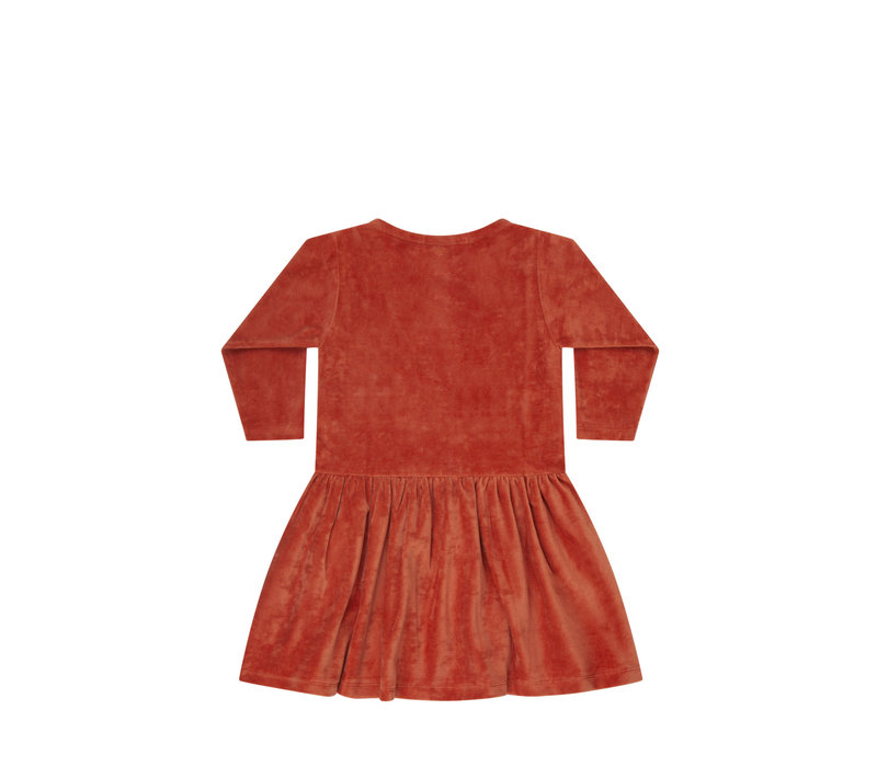 Mingo Dress Terry Red Wood
