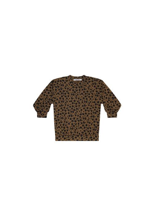 Mingo Mingo Oversized Sweater Scribble Print Kangaroo