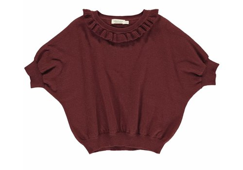 MarMar MarMar Tagea, Light Cotton Wool, Knitwear- Wine