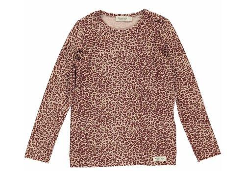 MarMar MarMar Leo Tee Leopard T-shirt- Wine Leo