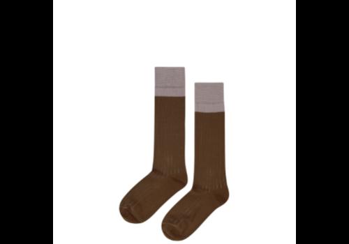 Mingo Mingo Knee Socks Taupe/Kangaroo