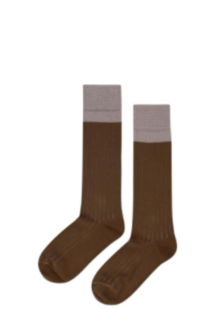 Mingo Knee Socks Taupe/Kangaroo