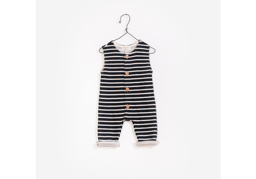 Play Up PlayUp Striped Double Face Jumpsuit