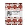 Swedish Linens Swedish Linens RAINBOWS Burgundy Fitted Single Bed Sheet 90x200cm