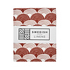 Swedish Linens Swedish Linens RAINBOWS Burgundy Fitted Toddler Bed Sheet 70x160cm