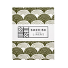 Swedish Linens Swedish Linens RAINBOWS Olive Green Fitted Single Bed Sheet 90x200cm