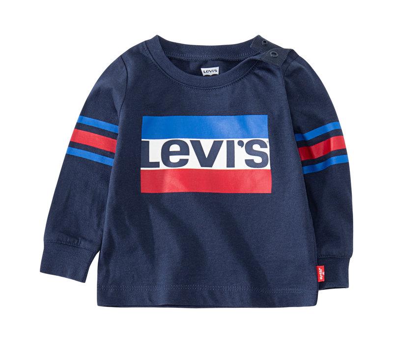 LEVI'S Tee Shirt LS Dress Blues