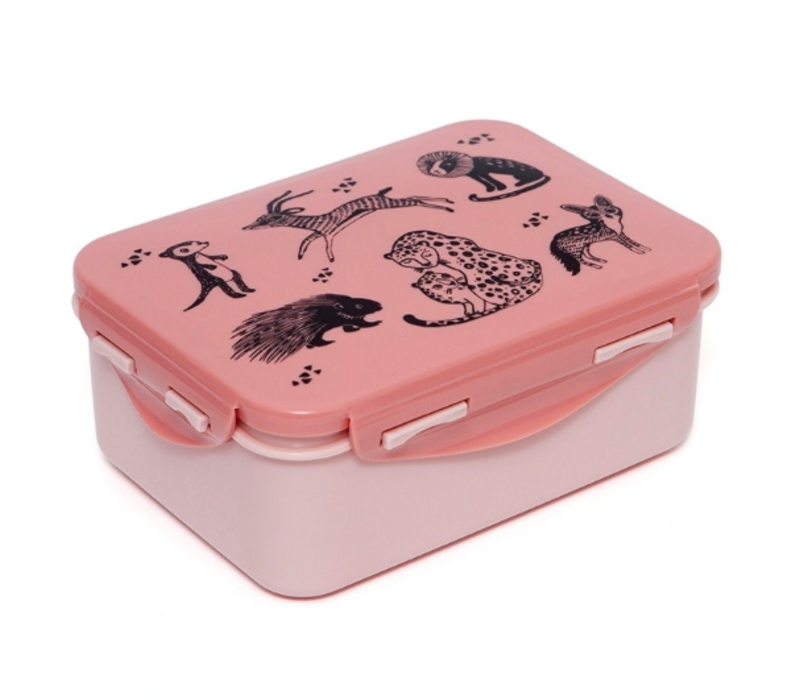 Petit Monkey Lunchbox Black  Animals
