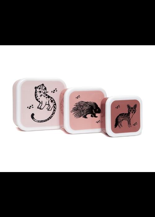 Petit Monkey Petit Monkey Lunchbox Set Black Animals